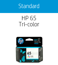 Generic HP 65 ink cartridges tricolor