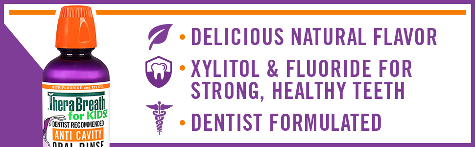 delicious natural flavor xylitol and fluoride for strong healthy teeth dentist formulated