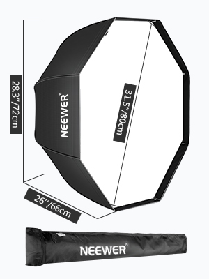 Neewer 80cm octogonales fotografía Studio paraguas Softbox