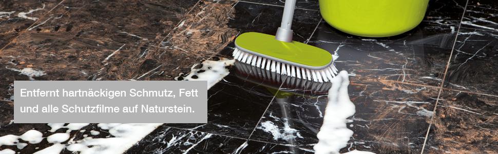 HG Naturstein Kraftreiniger 1L – ist ein leistungsstarker Naturstein  Reiniger zur mühelosen Entfernung von Fett und angebackenem Schmutz von  Marmor ...
