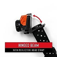 hinged beam tilting head adjustable light angle