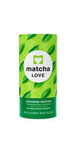 matcha, single-serve, packet, sticks, powder
