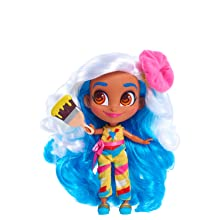 hairdorables, youtube show, sallee, painter, collectible dolls, blue hair