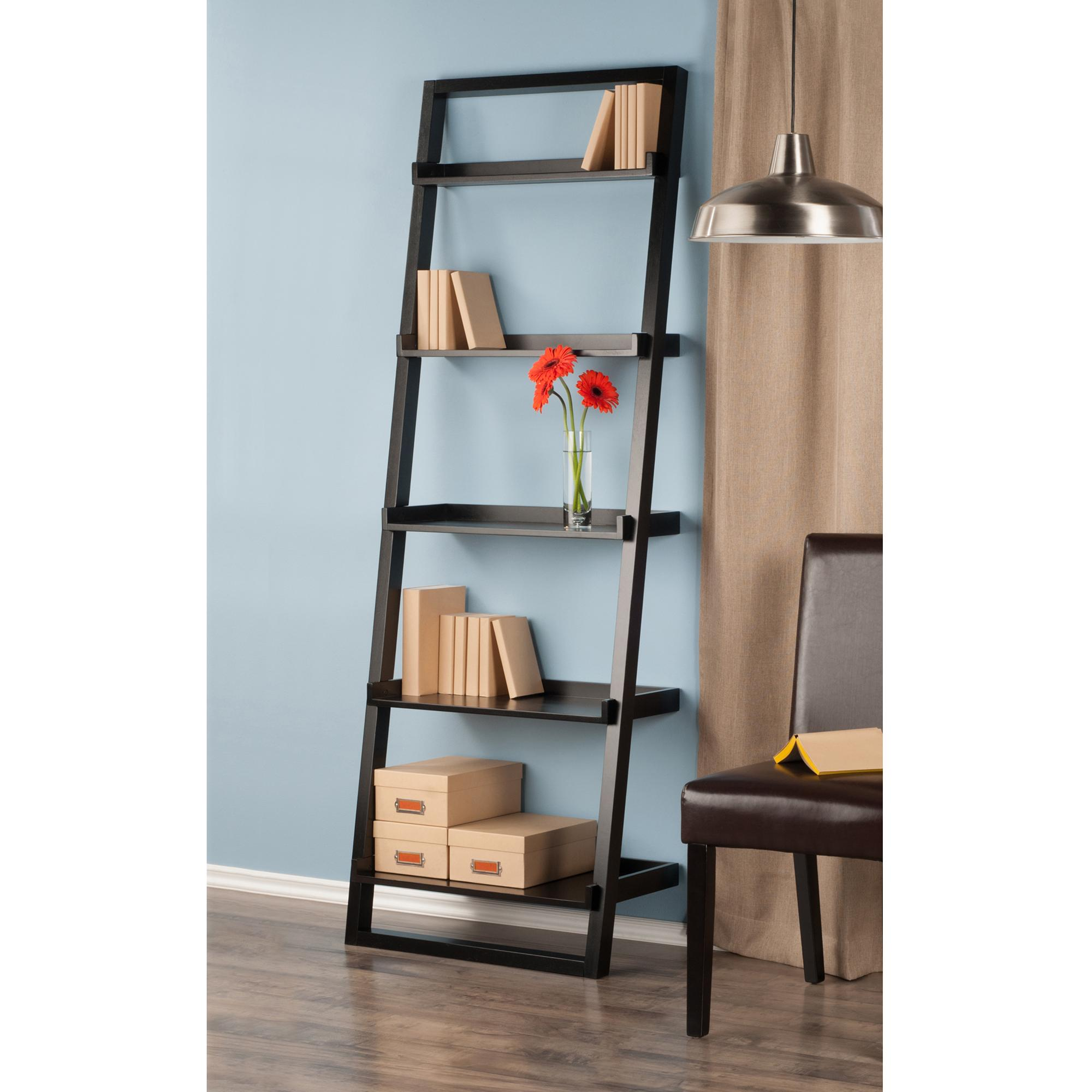 Kitchen Shelf Amazon: Amazon.com: Winsome Wood Bailey Leaning 5-Tier Shelving