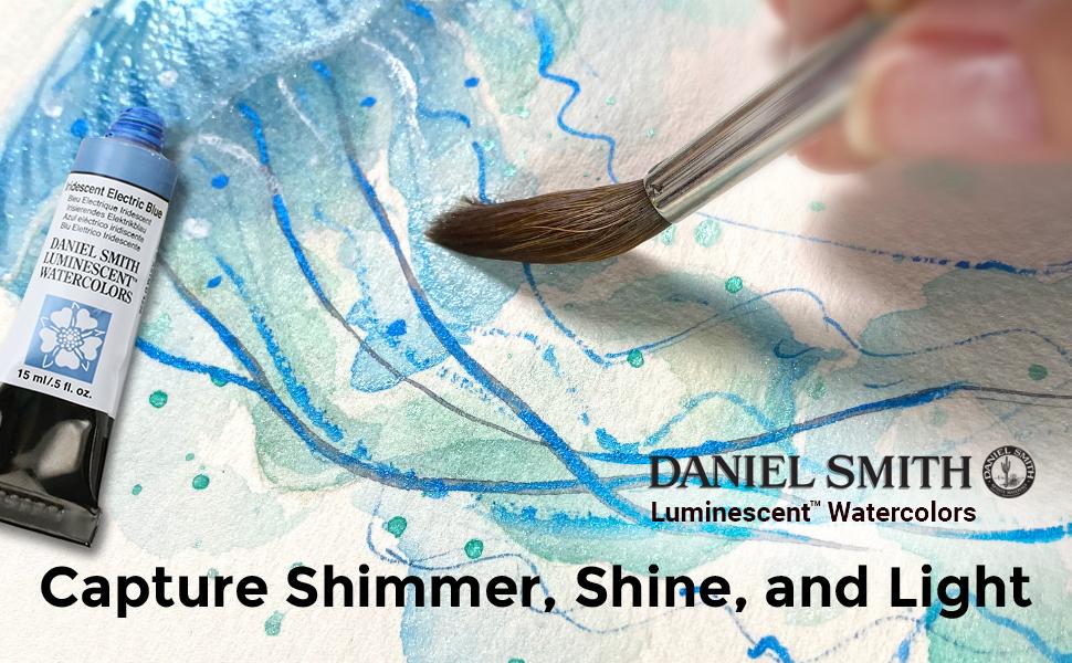 Amazon.com: DANIEL SMITH Extra Fine Watercolor Paint, 15ml Tube, Iridescent  Gold, 284640017