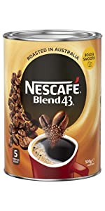 Nescafe,blend 43,coffee,australian made,soluble,coffee beans,starbucks,nespresso,moccona