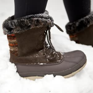 snow boots; warm lining