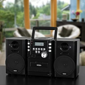 CD Boombox Stereo Cassette Player