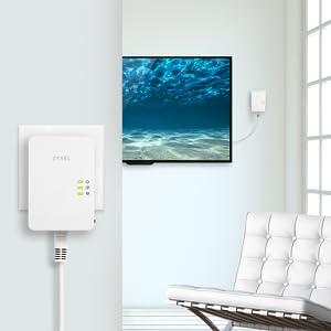 Zyxel Powerline AV1200//1300 Ethernet Adapter 2-Pack PLA5405V2KIT