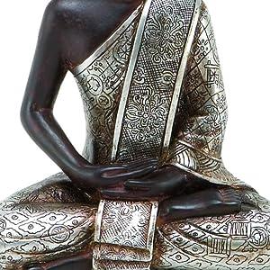 Deco 79 Thai Buddha Meditating Peace Harmony Statue