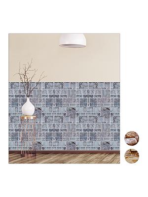 Pack de 5 50 x 50 cm Gris relaxdays Paneles Pared Autoadhesivos Revestimiento Decorativo PVC Imitaci/ón Piedra 3D