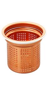 ゴミ受け 流し用銅製ゴミカゴ