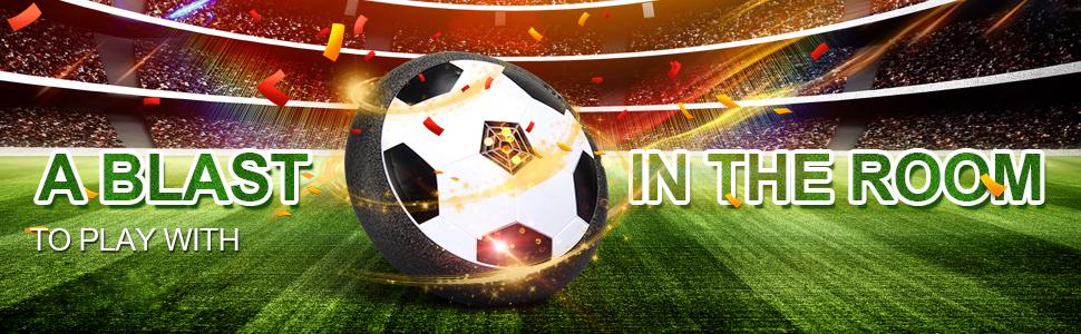 VIDEN Juguete Balón de Fútbol Flotante, Air Football on Luces LED ...