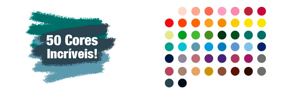 50 cores incríveis