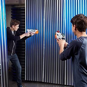 alphapoint; laser ops; nerf; 2 lanzadores; listo para jugar; laser; laser tag; lazer tag; lazer;