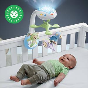 Apaise bébé et l'aide à s'endormir grâce à une douce projection de lumière