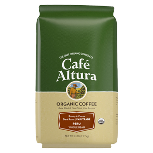 Cafe Altura Organic Peruvian Whole Bean Coffee