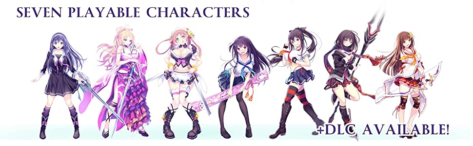 Seven playable characters and DLC are available!