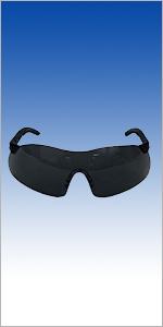 Mercer Industries D30006 Sport Safety Glasses with Grey UV Lens (Black)