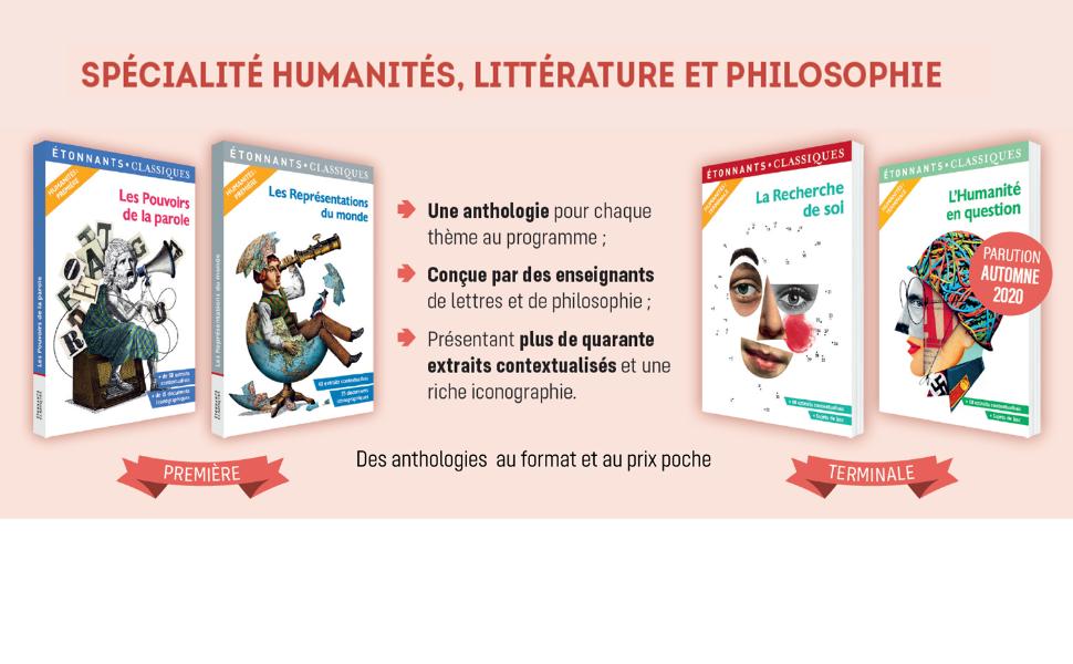Flammarion; Etonnants classiques; prescrits; lycée; bac 2021; spécialité humanités littérature philo