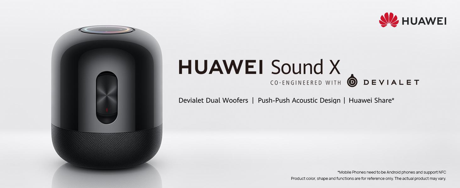 HUAWEI Sound X Devialet Dual Woofers Push-Push Acoustic Design