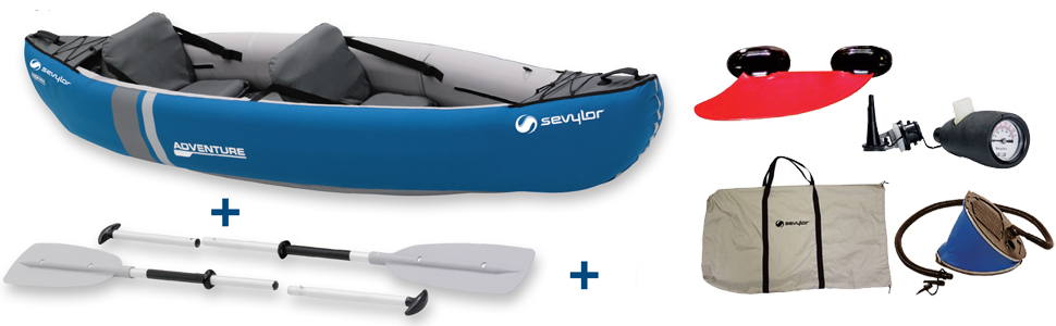 Sevylor Canoa Adventure Kit (2 P), Unisex, Azul, No: Amazon.es ...