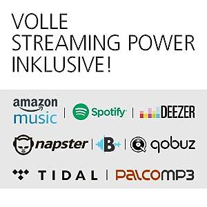 Amazon Music, Spotify, Napster, Deezer, Streaming