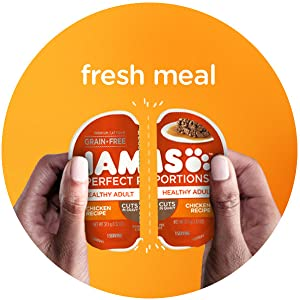 Fresh Meal, Snap, Easy Peel Tray, Iams Wet Cat Food, Perfect Portions Cat Food, Adult Cat Food