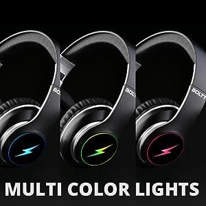 multicolors headphones