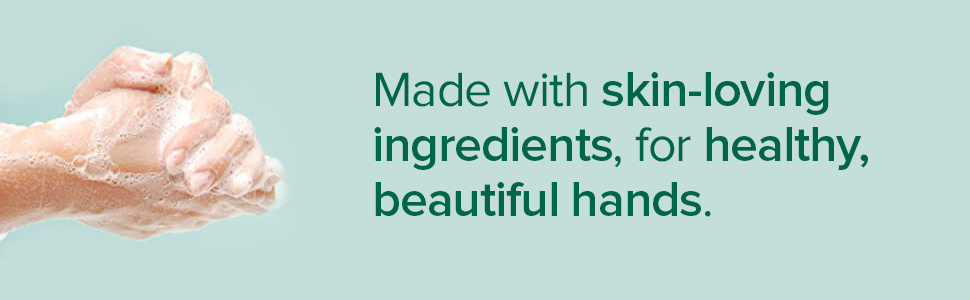 Made with skin-loving ingredients, for healthy, beautiful hands.