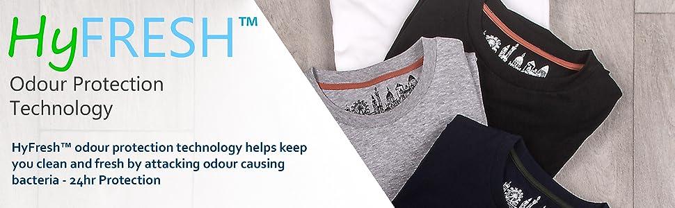HyFresh T-shirts anti odour antibacterial