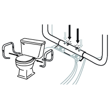 toilet seat elevator raised elevated seats standard toilets handicap handles riser elongated seniors