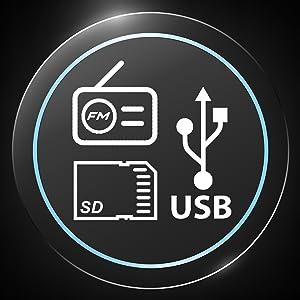 micro sd usb fm radio bluetooth wireless speakers boomboxes music apple samsung lg mobile phone