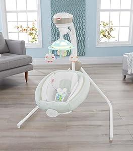 Amazon Com Fisher Price Comfy Cloud Cradle N Swing Baby