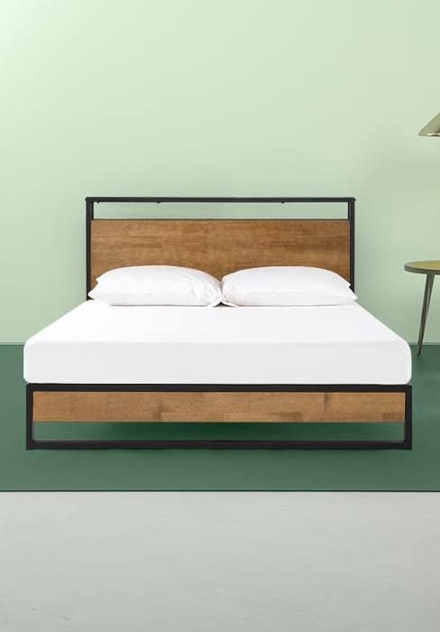 Amazon Com Zinus Suzanne Metal And Wood Platform Bed With