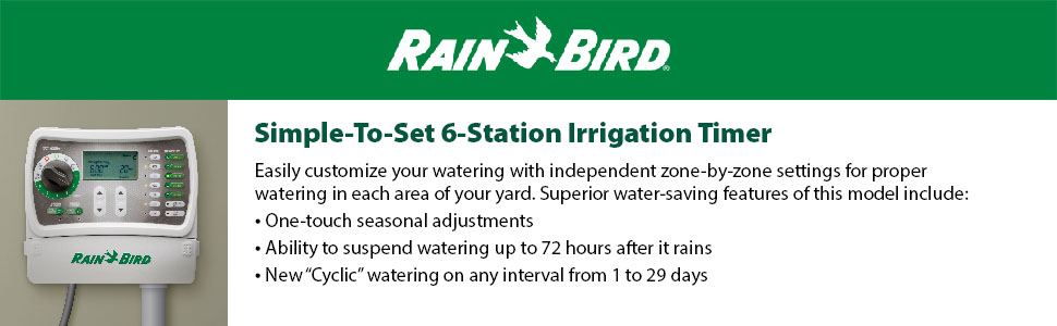 Rain Bird SST600IN Irrigation Timer Indoor 6-Station Rain Bird Crc A Wiring Diagram on