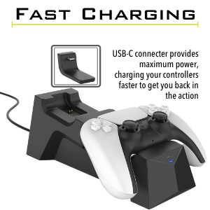surge charge station, surge fast charger, surge charging, ps5 charger, playstation 5 charger, ps5
