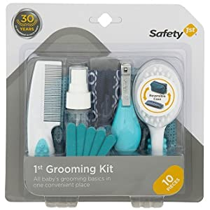 Soft-grip brush, child grooming kit, nail files, emery boards, folding nail clippers, grooming kit