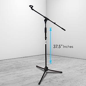 Mic Stand, Microphone Stand, Tripod Mic Stand, Foldable Tripod Mic Stand, Pyle Stand, Pyle Mic Stand