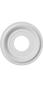 thermoformed PVC ceiling medallion