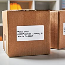 DYMO Labels on Shipping Packages