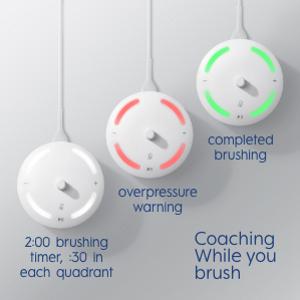 Coaching while you brush