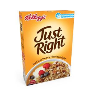 kellogg's just right cereal box