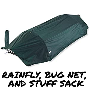 Lawson Hammock accessories rainfly stuff sack poles storage bag floating flying tent single person