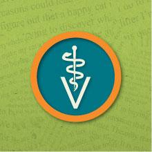 Veterinarian medical symbol. Illustration