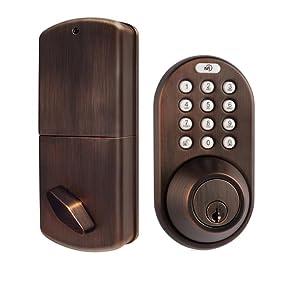 Milocks Df 02ob Electronic Keyless Entry Touchpad Deadbolt