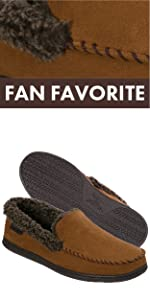 84e6020a4c4 Dearfoams Men s Suede Moccasin with Whipstitch Detail · Dearfoams Men s  Perforated Closed Back · Dearfoams Men s Gen Suede Slipper · Dearfoams  Women s ...