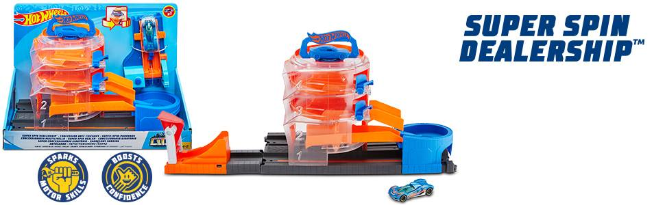 Hot Wheels City Super Sets ThemedPlay Set Assortment 4 Levels Connection System Ages 3 years to 8