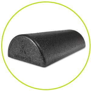 black foam roller, firm foam roller half foam roll, half round foam roller, high density foam roll,