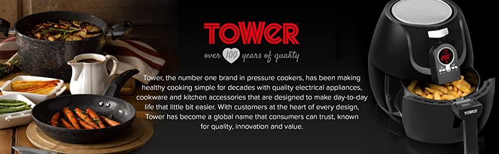 tower t17005 air fryer rapid air circulation system 1350. Black Bedroom Furniture Sets. Home Design Ideas